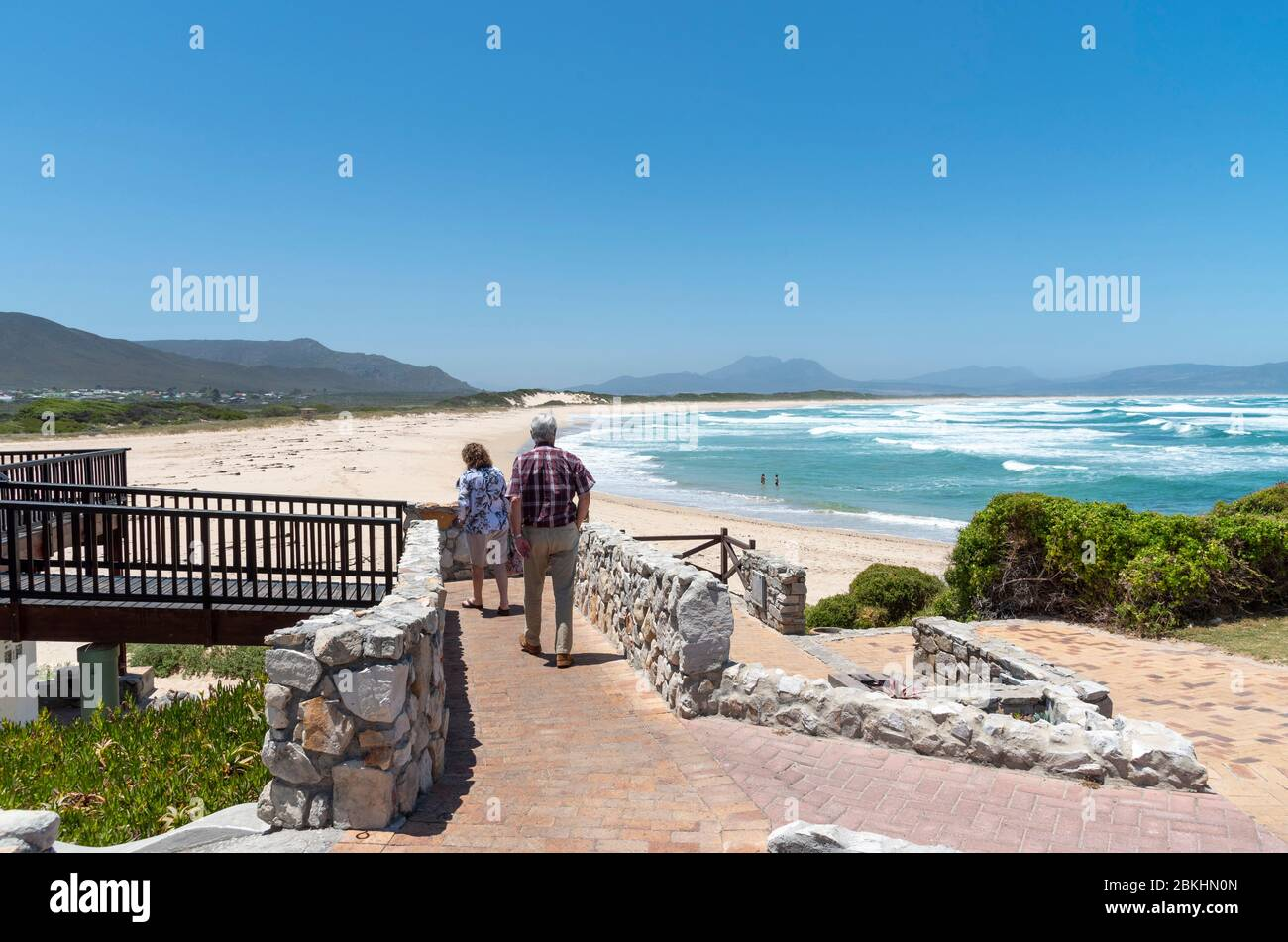 Kleinmond, Western Cape, South Africa. 2019,  The seafront at Kleinmond a small town on the Alantic coast on the garden route in the Western Cape regi Stock Photo