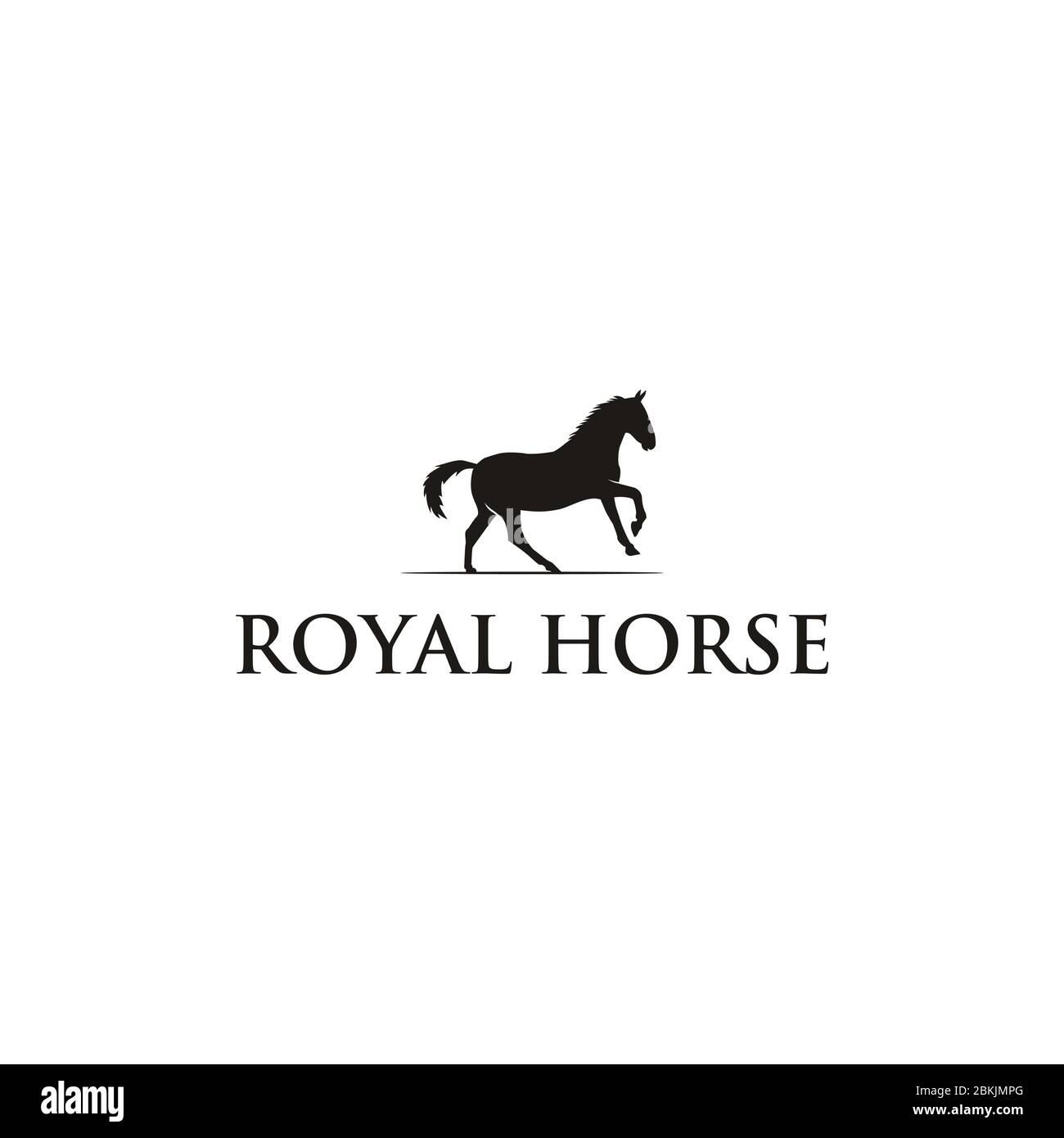 Horseback Knight Silhouette Horse Warrior Paladin Medieval Logo Design Stock Vector Image Art Alamy