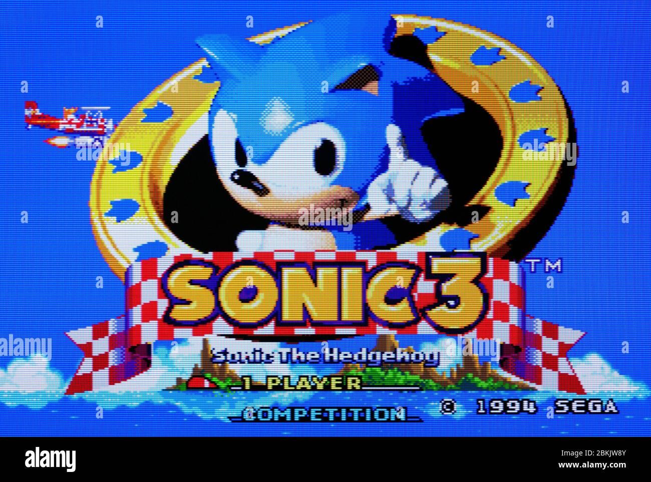 Sonic The Hedgehog 3 Sega Genesis Mega Drive Editorial Use Only Stock Photo Alamy