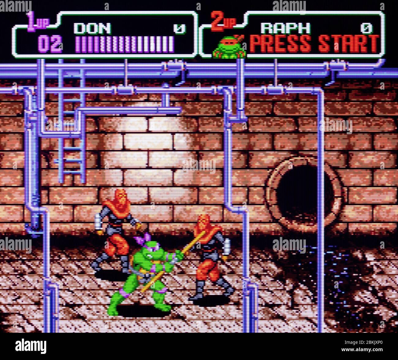 Teenage Mutant Ninja Turtles The Hyperstone Heist Sega Genesis Mega Drive Editorial Use Only Stock Photo Alamy