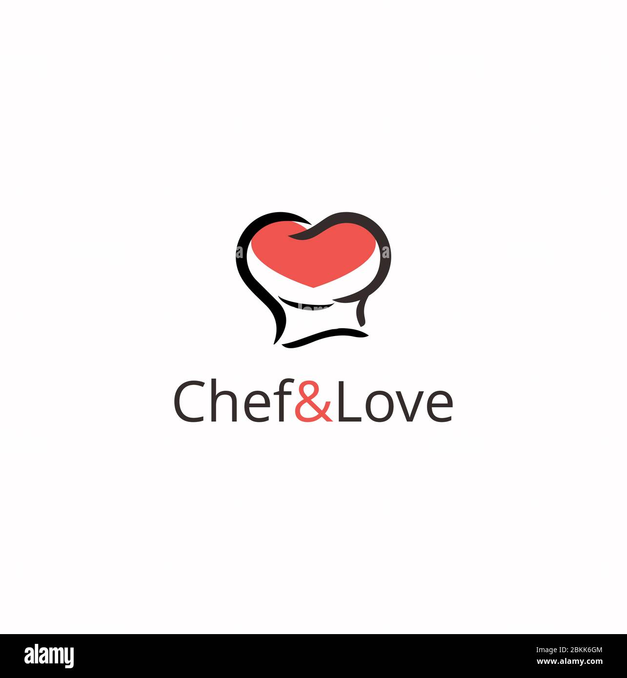 Chef Hat With Love And Heart Restaurant Logo Design Inspiration Stock Vector Image Art Alamy