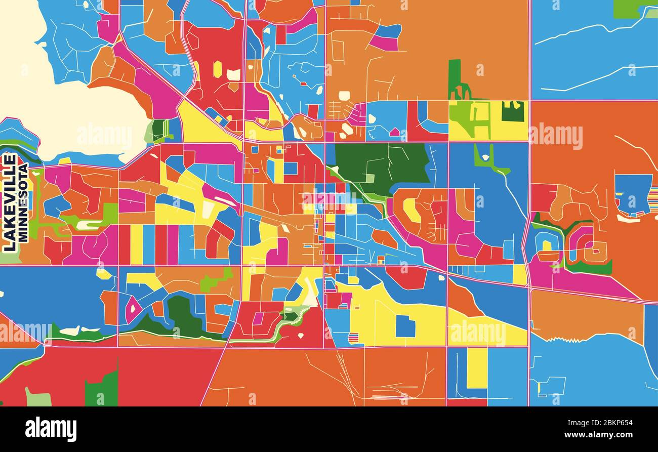 map of lakeville minnesota Colorful Vector Map Of Lakeville Minnesota Usa Art Map Template map of lakeville minnesota