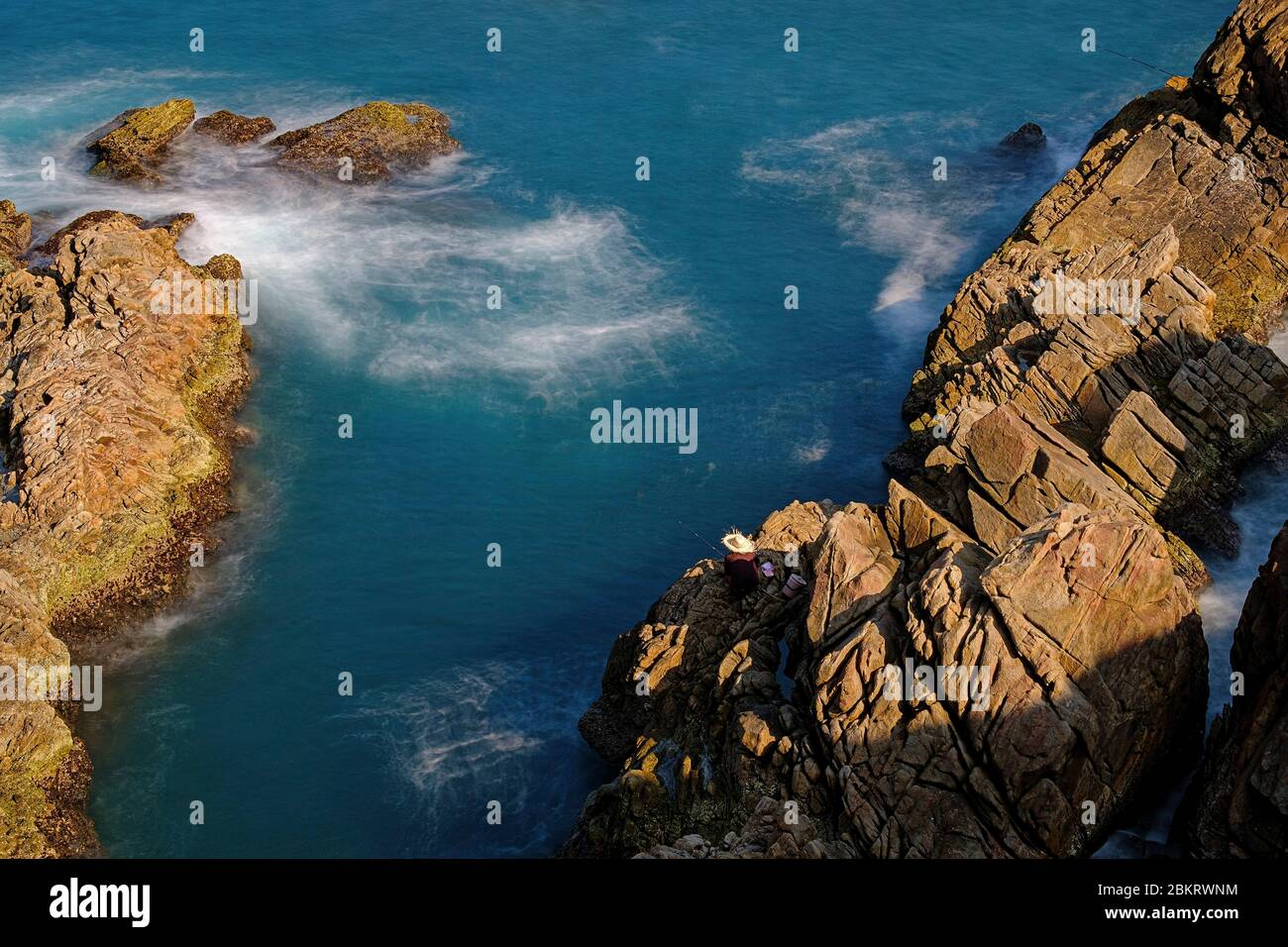 Vietnam, Phu Yen province, Ganh Da Dia, basalt rock columns, the vietnamese Giant's causeway Stock Photo