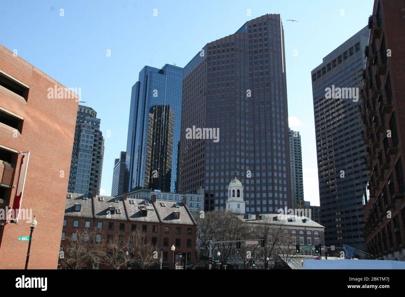 Im Zentrum von Boston in den USA Stock Photo
