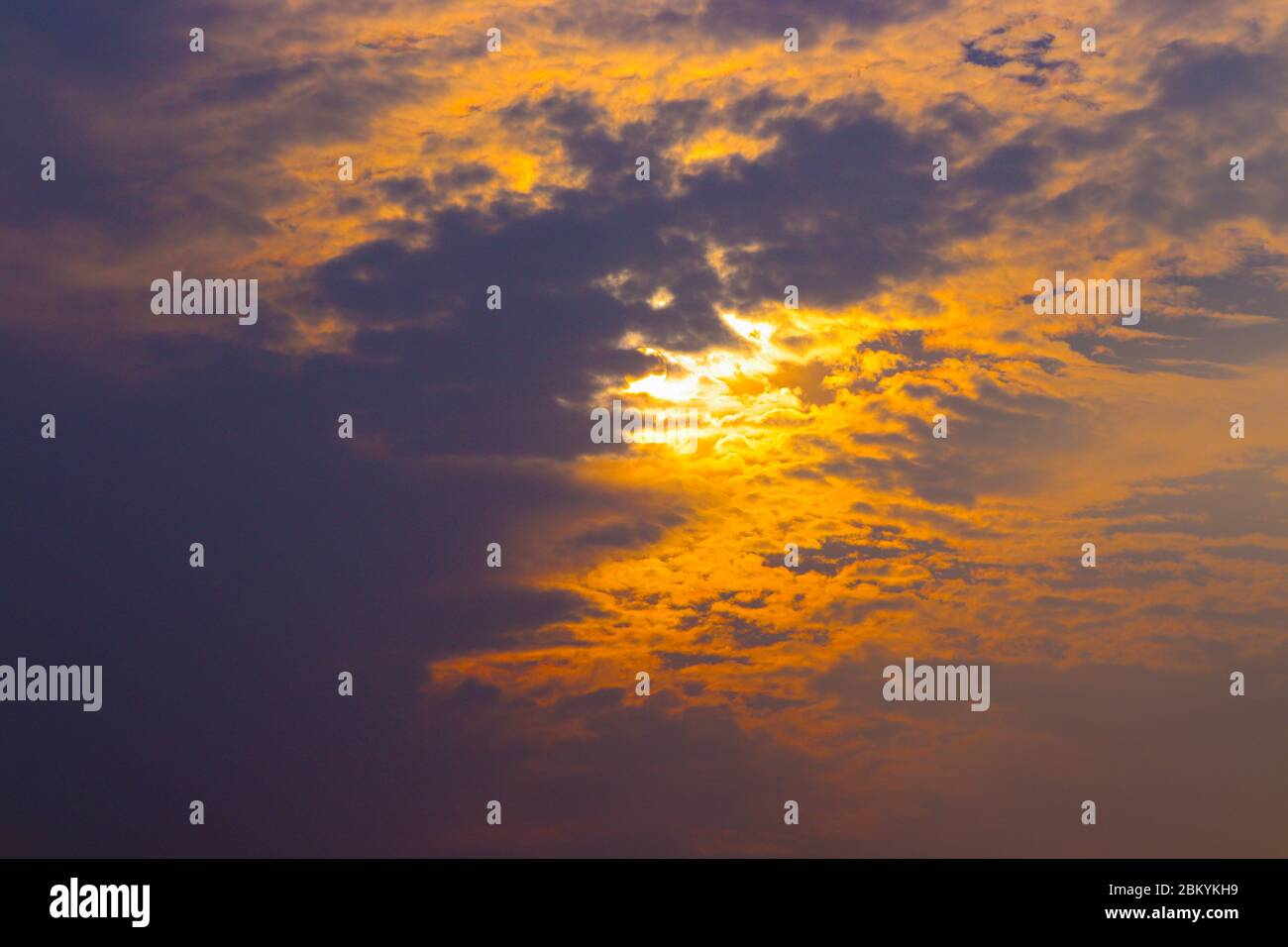 The Beautiful Sun Above Clouds With Dramatic Light Sunset Sunrise With Sun Rays Stock Photo Alamy