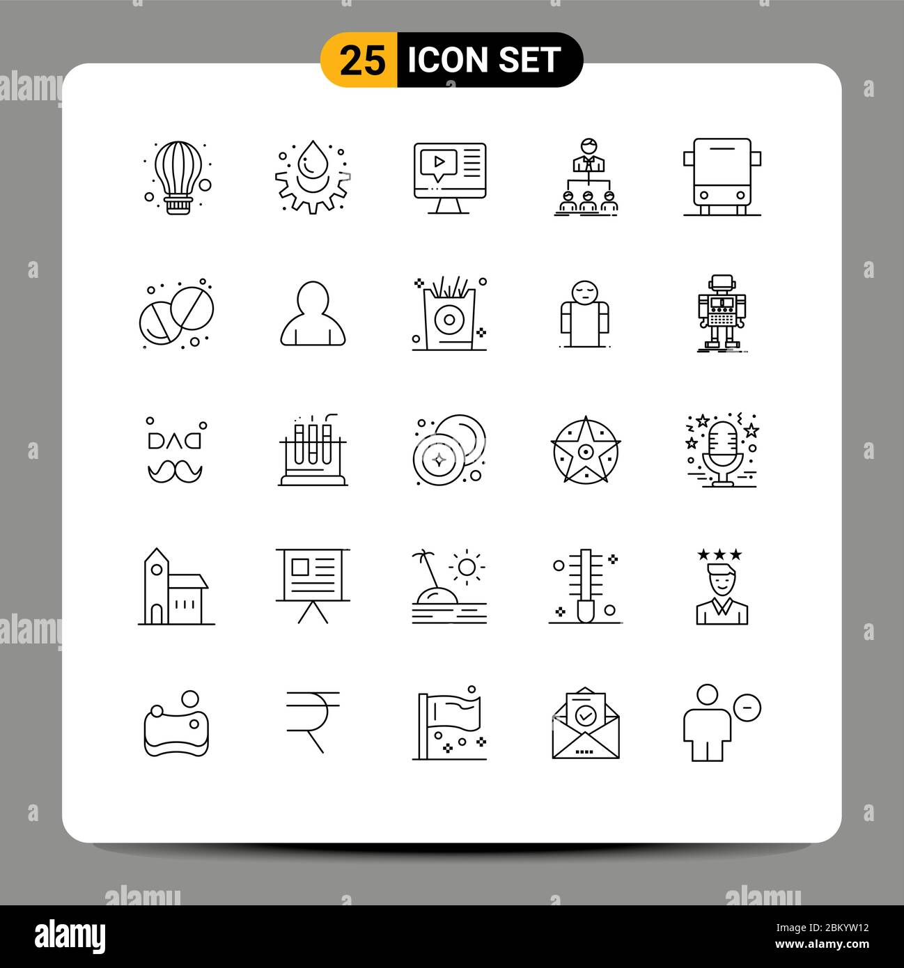 User Interface Pack Of 25 Basic Lines Of Bus Group Computer Organization Team Editable Vector Design Elements Stock Vector Image Art Alamy
