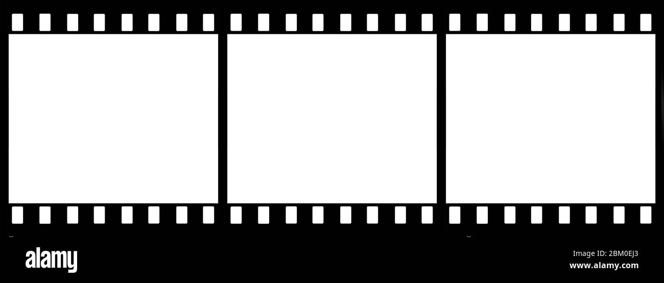 vintage blank film strip frame isolated Stock Photo