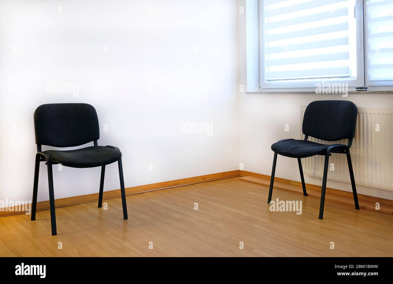 Two Chairs In The Waiting Room Of A Doctor S Office Stock Photo Alamy