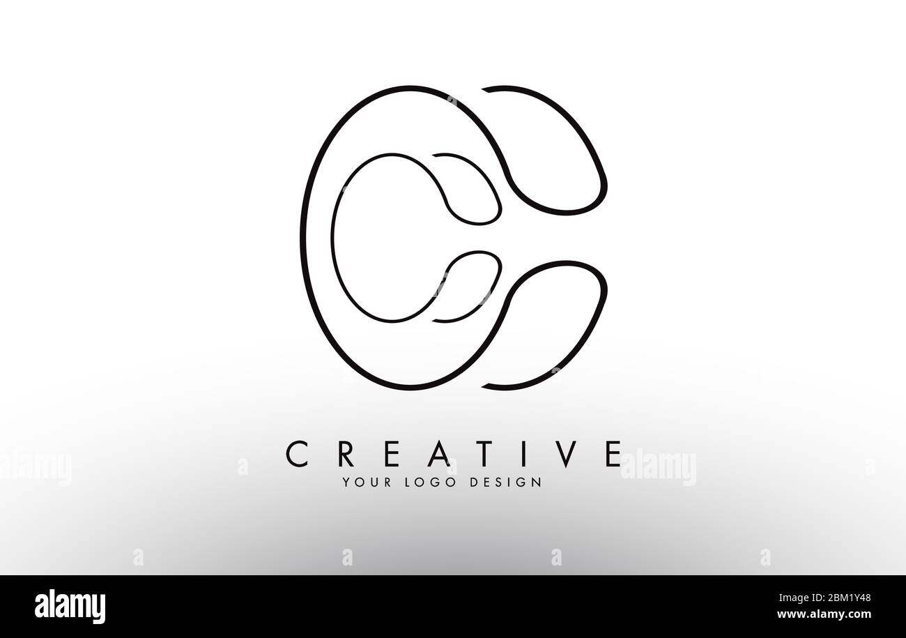 Oultine Monogram Cc C C Letters Logo Design Creative Cc Letter Icon With Black Wired Lines Vector Illustration Stock Vector Image Art Alamy