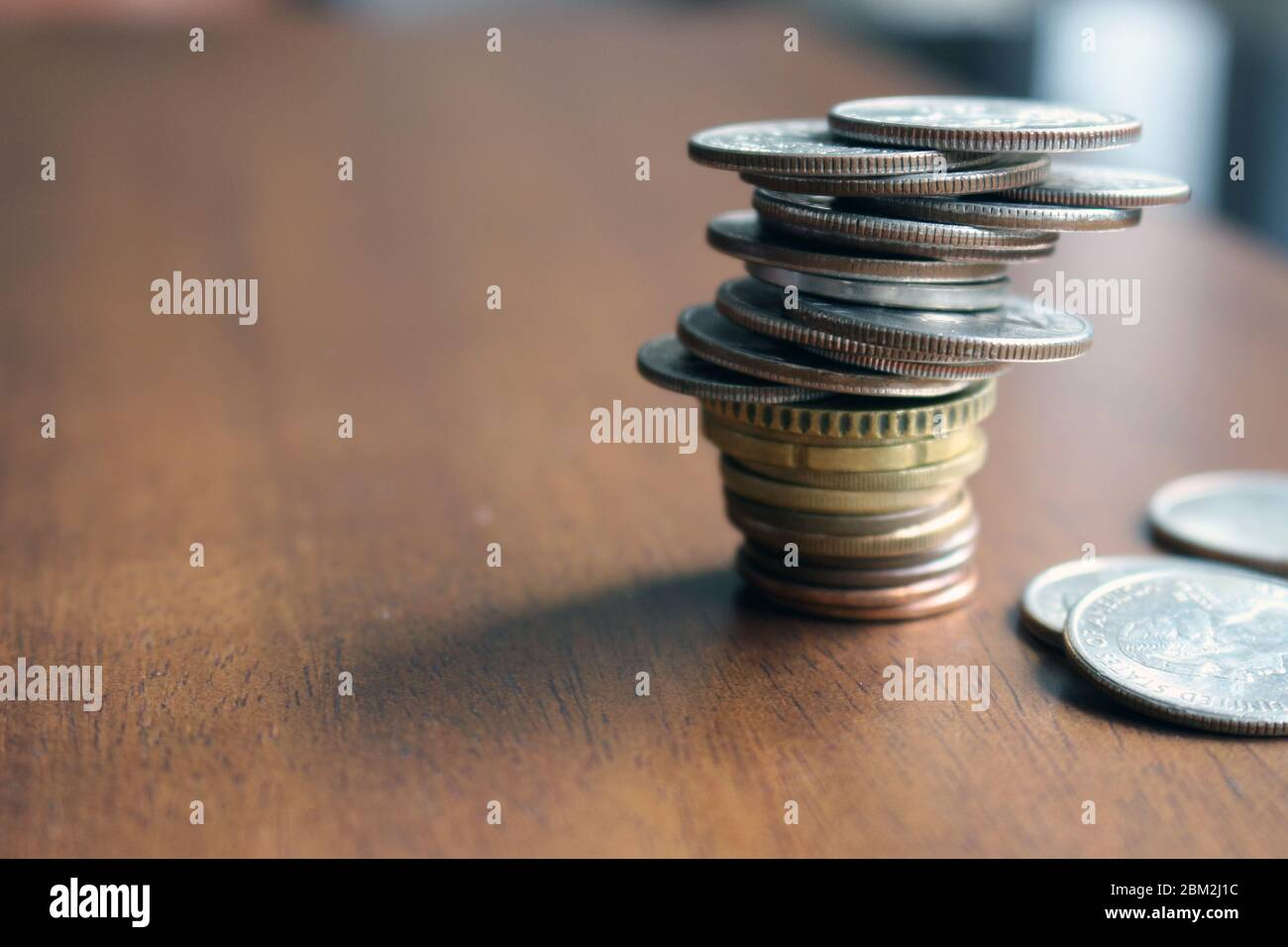 Money - after Covid-19 the imbalance will be general and the global recession is inevitable. Stock Photo