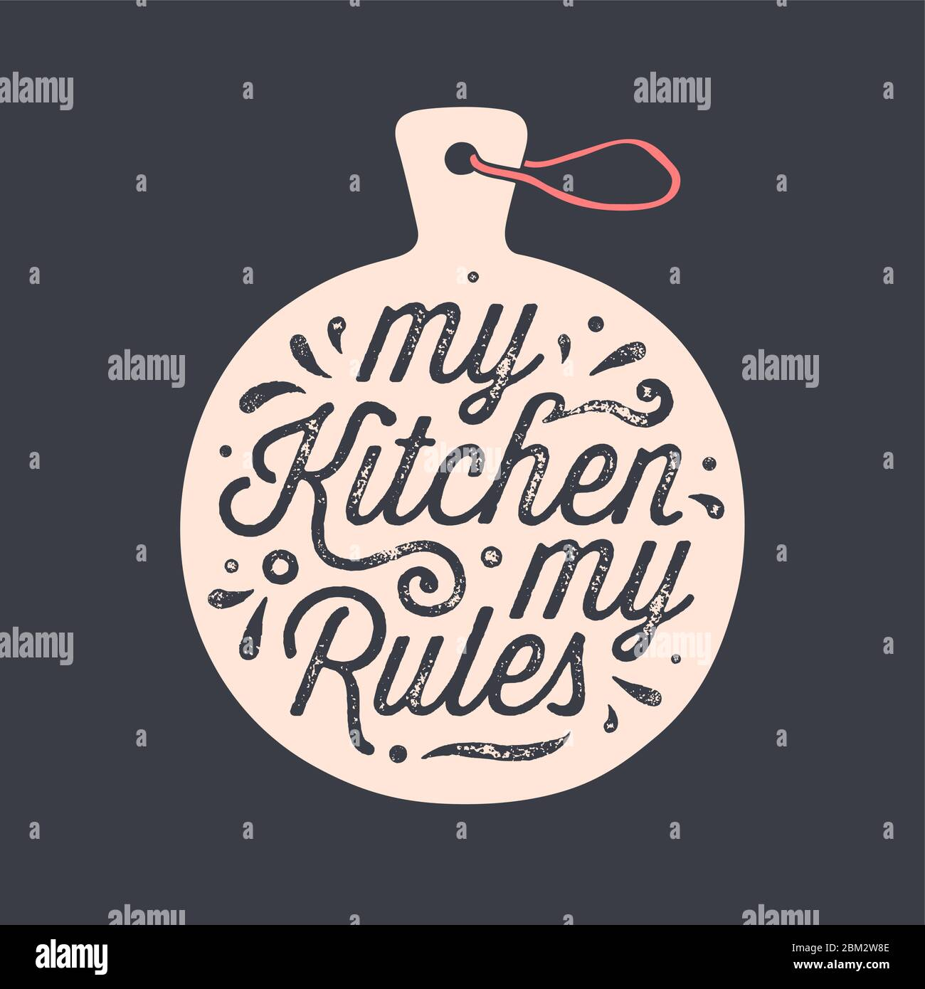 Kitchen Cutting Board Kitchen Wall Decor Sign Stock Vector Image Art Alamy