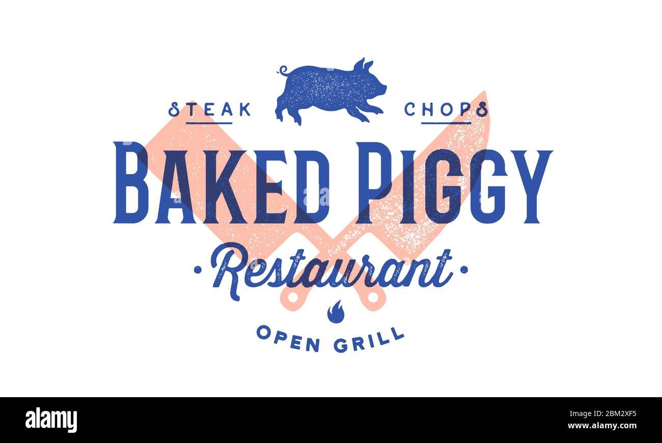 Label Logo Meat Restaurant Stock Vector Image Art Alamy
