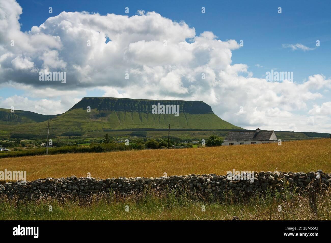 Ben Bulben mountain in County Sligo, Ireland. Stock Photo