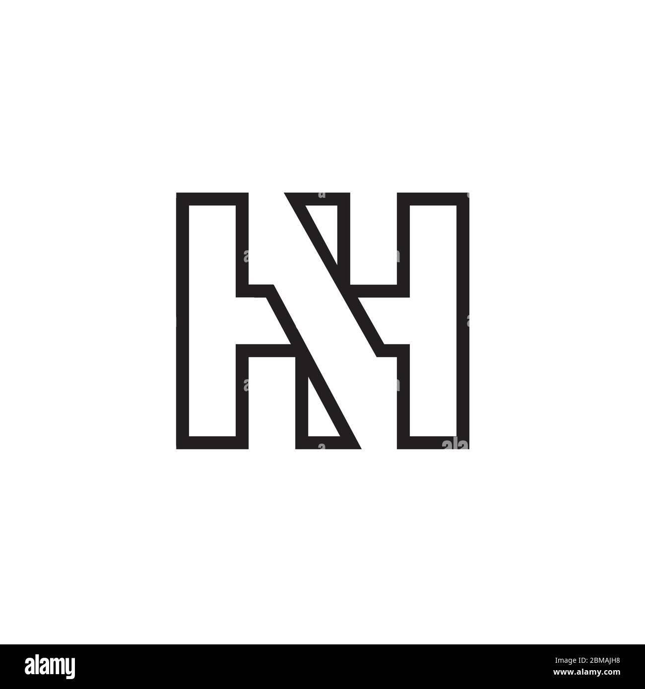 H N H lines logo design vector Stock Vector