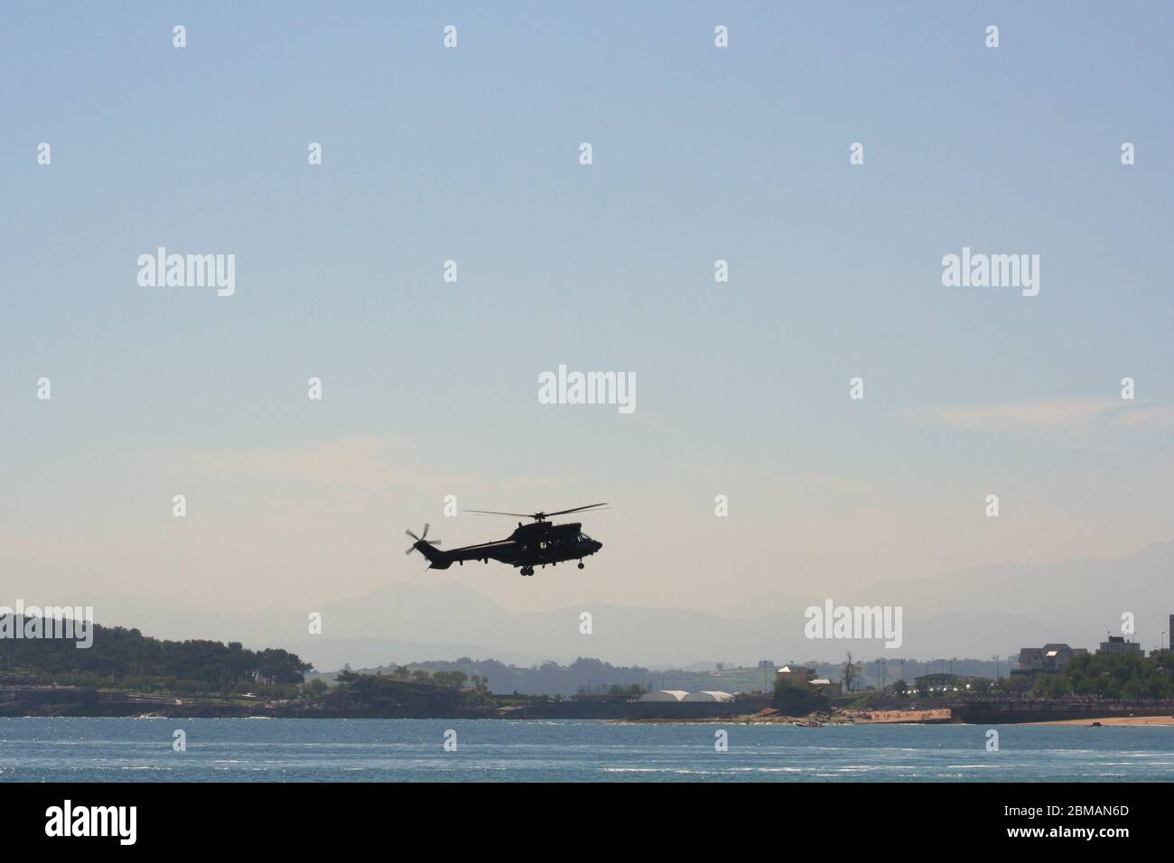 Series 33 of 165 Agusta-Bell AB 212 close up view at the Armed Forces Day Santander Spain Stock Photo