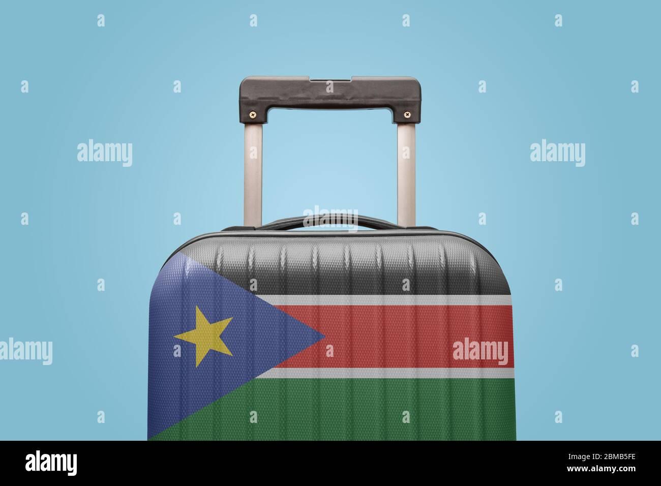 South Africa Flag Crackled Design Messenger Bag