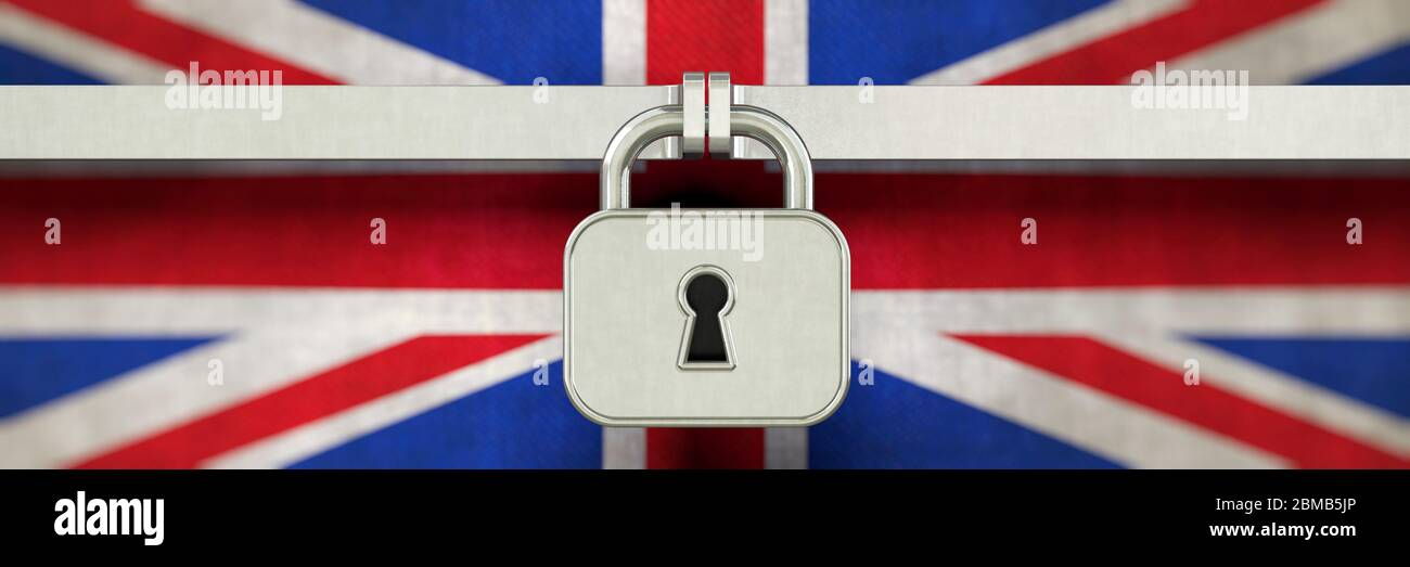 Lockdown, UK, Corona, Großbritannien, Shutdown, lock down, Coronavirus, Land, Shut down, United Kingdom, Haushaltssperre, Great Britain, social distan Stock Photo