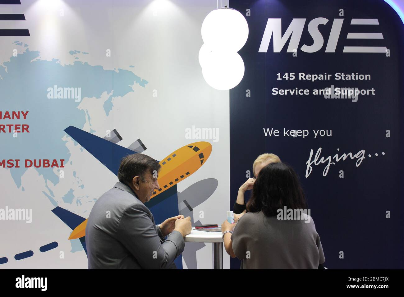 Scene At Aircraft Interiors Middle East 2020 And Mro Middle East 2020 Joint Trade Show Held In Dubai United Arab Emirates From February 25 26 2020 Stock Photo Alamy