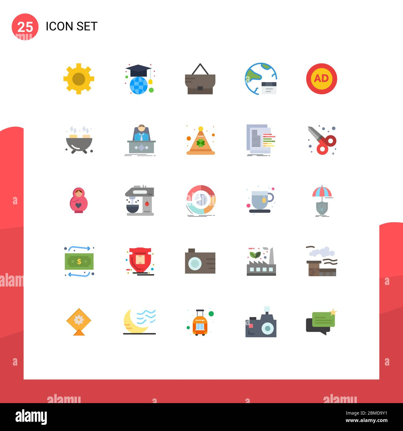 25 Universal Flat Color Signs Symbols Of Advertisement Ad Fashion Internet Develop Editable Vector Design Elements Stock Vector Image Art Alamy