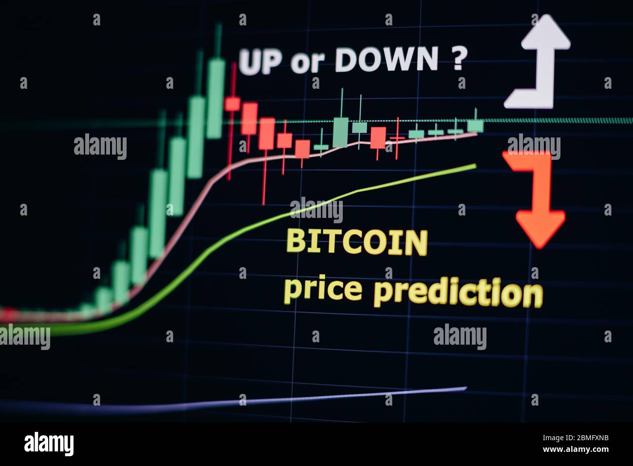 Bitcoin Price Forecast Trend Graph Btc Uptrend Or Downtrend Movement Price Prediction Graph Analysis Cryptocurrency Trading Online Stock Photo Alamy