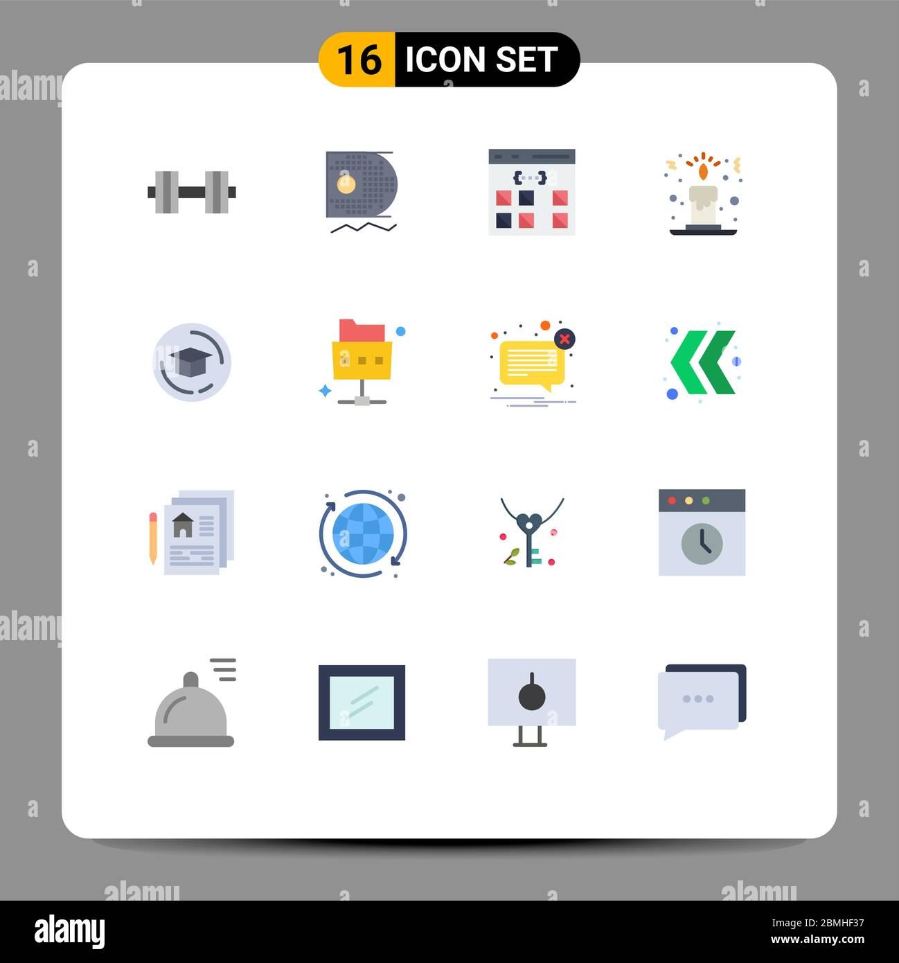 16 Creative Icons Modern Signs And Symbols Of Education Candle Light App Christmas Interface Editable Pack Of Creative Vector Design Elements Stock Vector Image Art Alamy