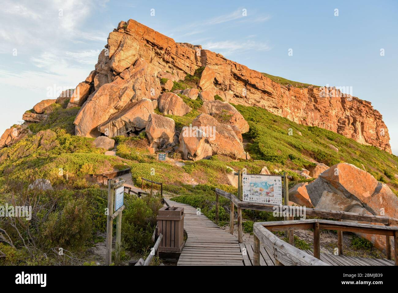 Robberg Nature Reserve is one of the top attractions near Plettenberg Bay, Garden Route, South Africa Stock Photo