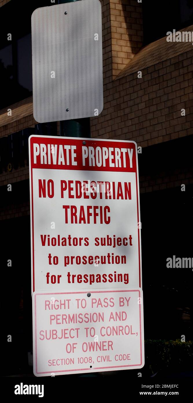 private property sign in California Stock Photo
