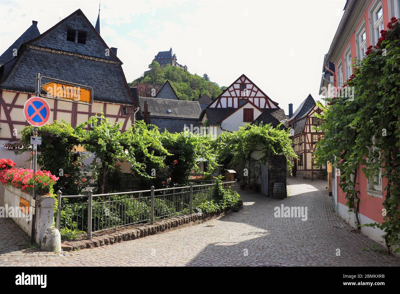 The Traditional German Town of Bacharach Am Rhein, Germany Stock Photo