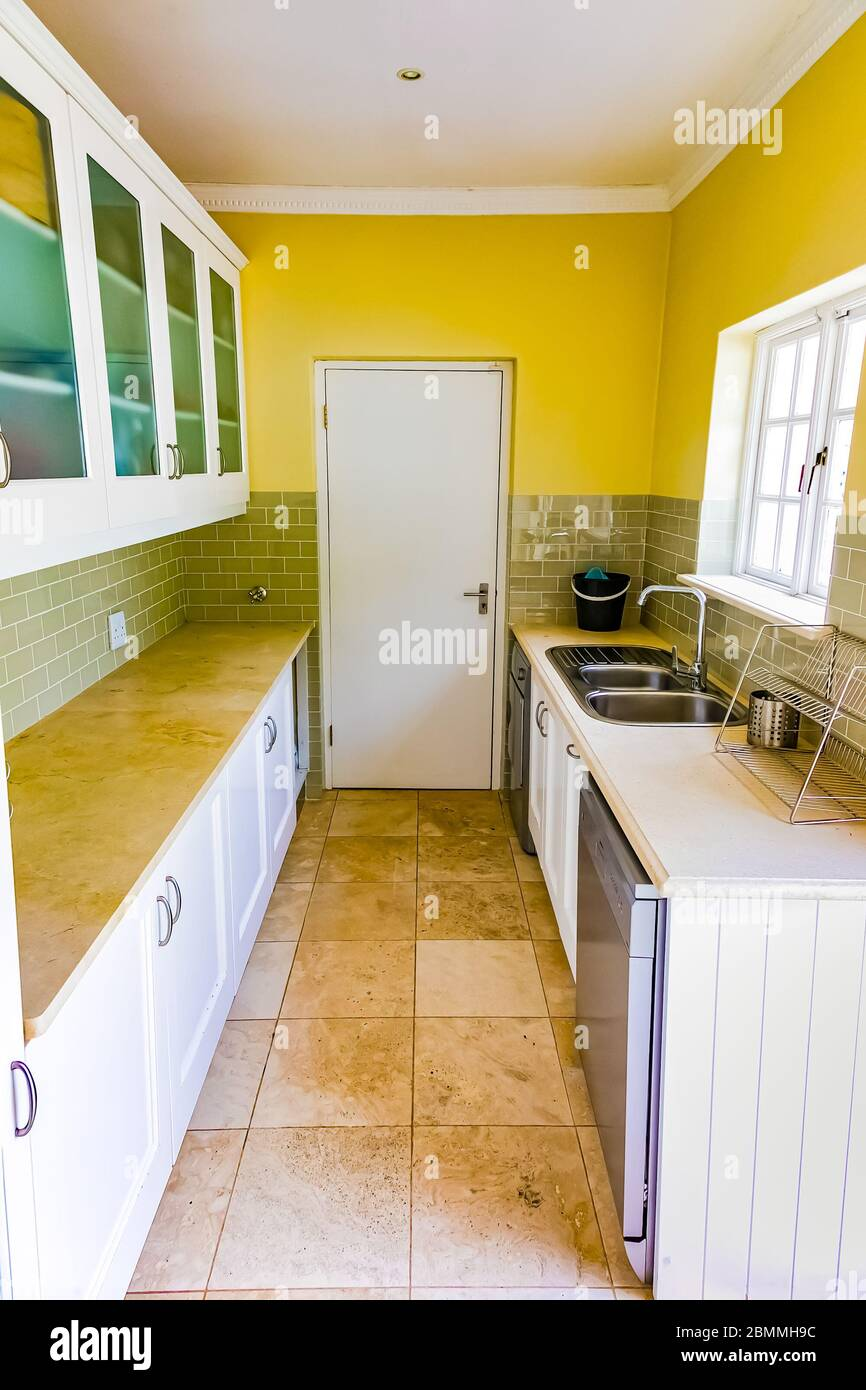 Cape Town South Africa February 6 2020 Inside Interior Of Empty Kitchen Scullery In Up Market House In The Suburbs Stock Photo Alamy