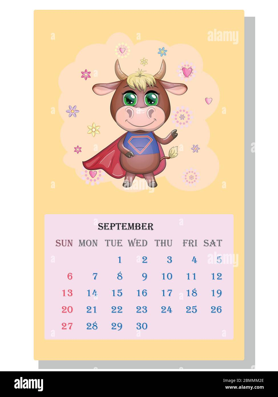 2021 Cow Calendar September Pictures