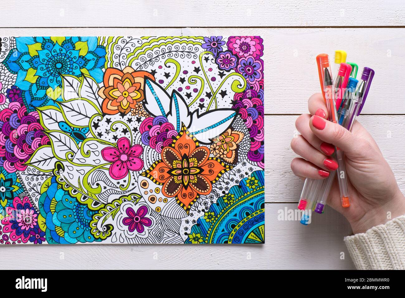 Adult coloring page for antistress art therapy Vector Image | 956x1300