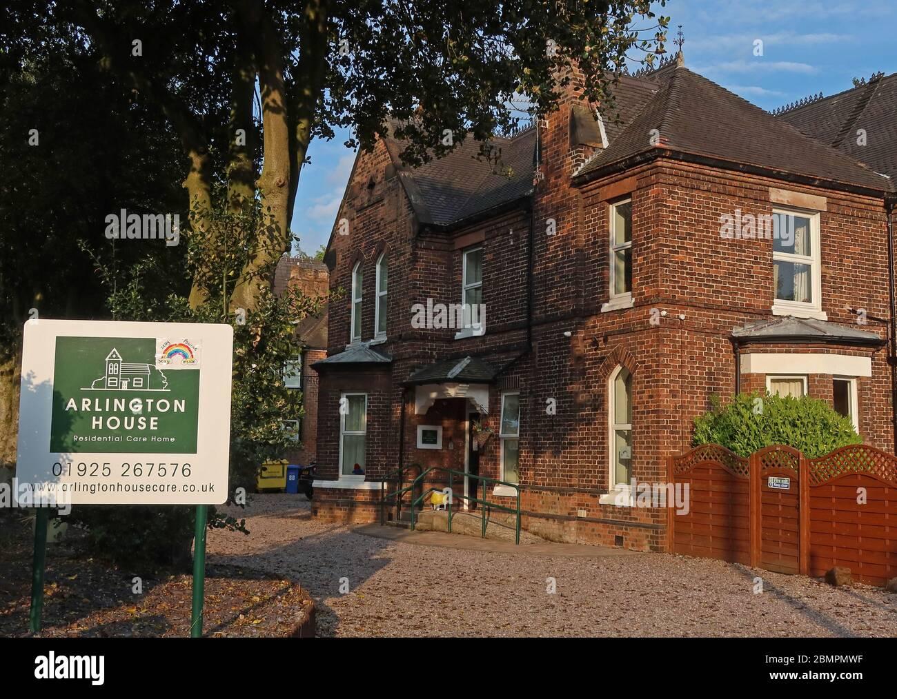 Arlington Lodge Care Home, Arlington House Residential Care Home,Ackers lane,Warrington, Cheshire, England, UK Stock Photo