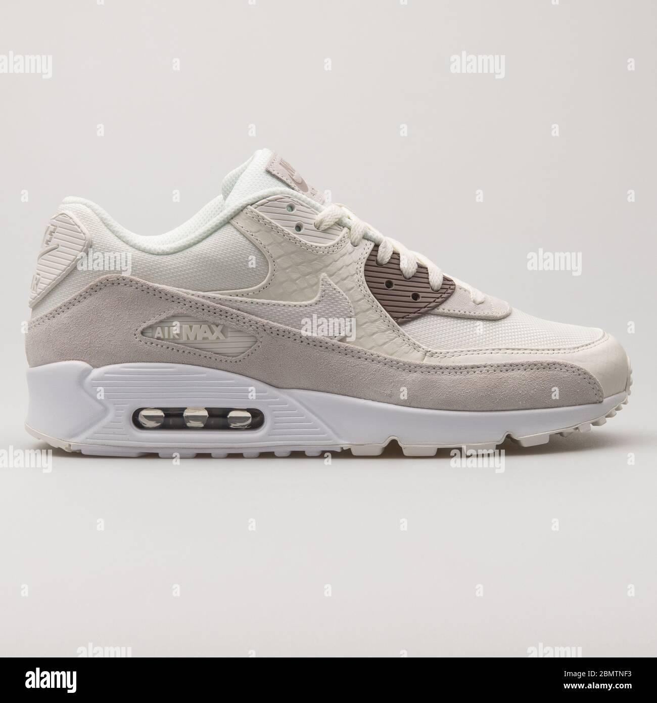 Nike Air Max 90 Premium beige and white