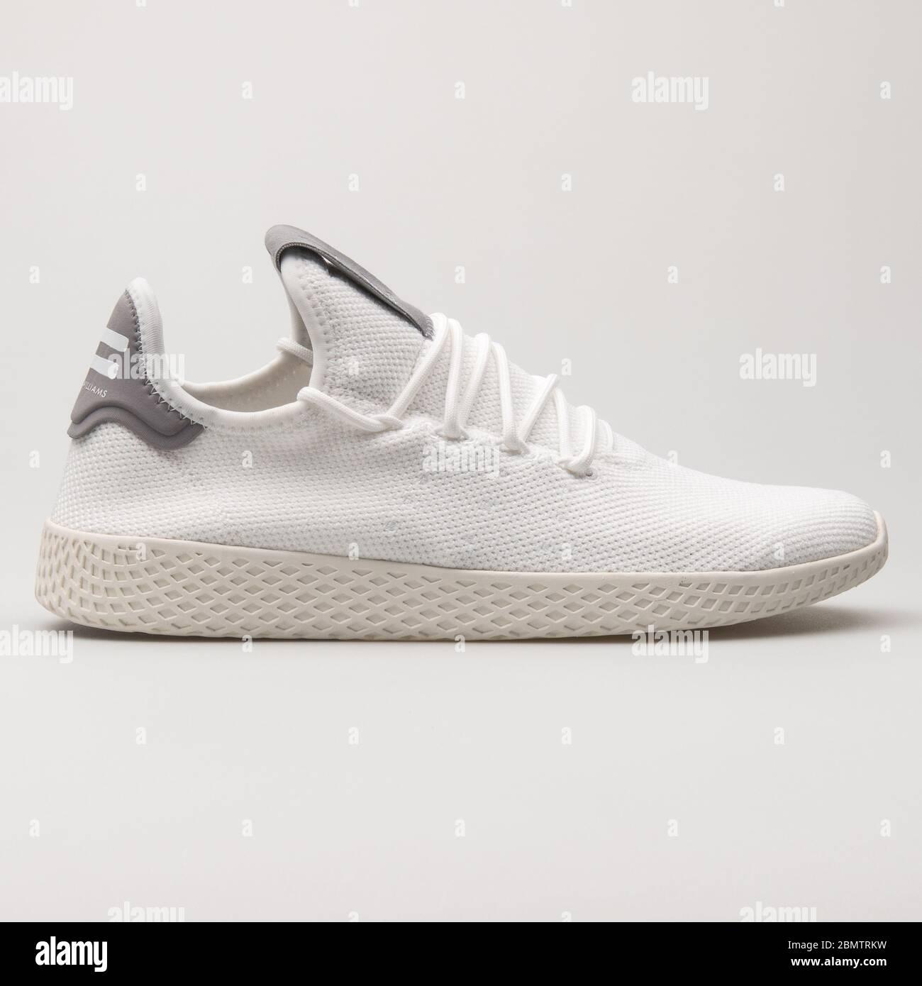Permanecer Albardilla En general  VIENNA, AUSTRIA - JUNE 14, 2018: Adidas PW Tennis HU white and grey sneaker  on white background Stock Photo - Alamy