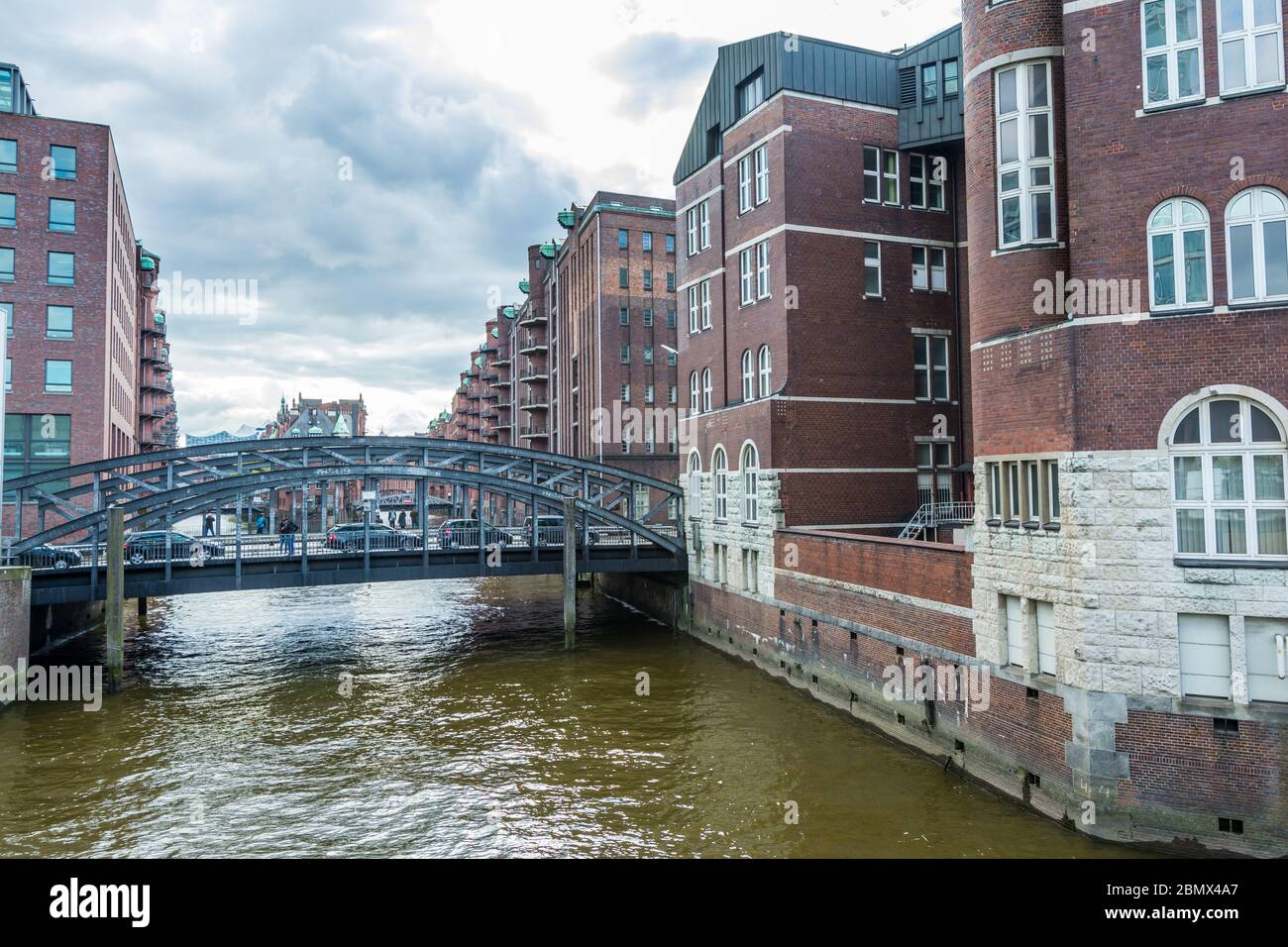 The Speicherstadt in Hamburg of Germany,  the largest warehouse district in the world. Stock Photo