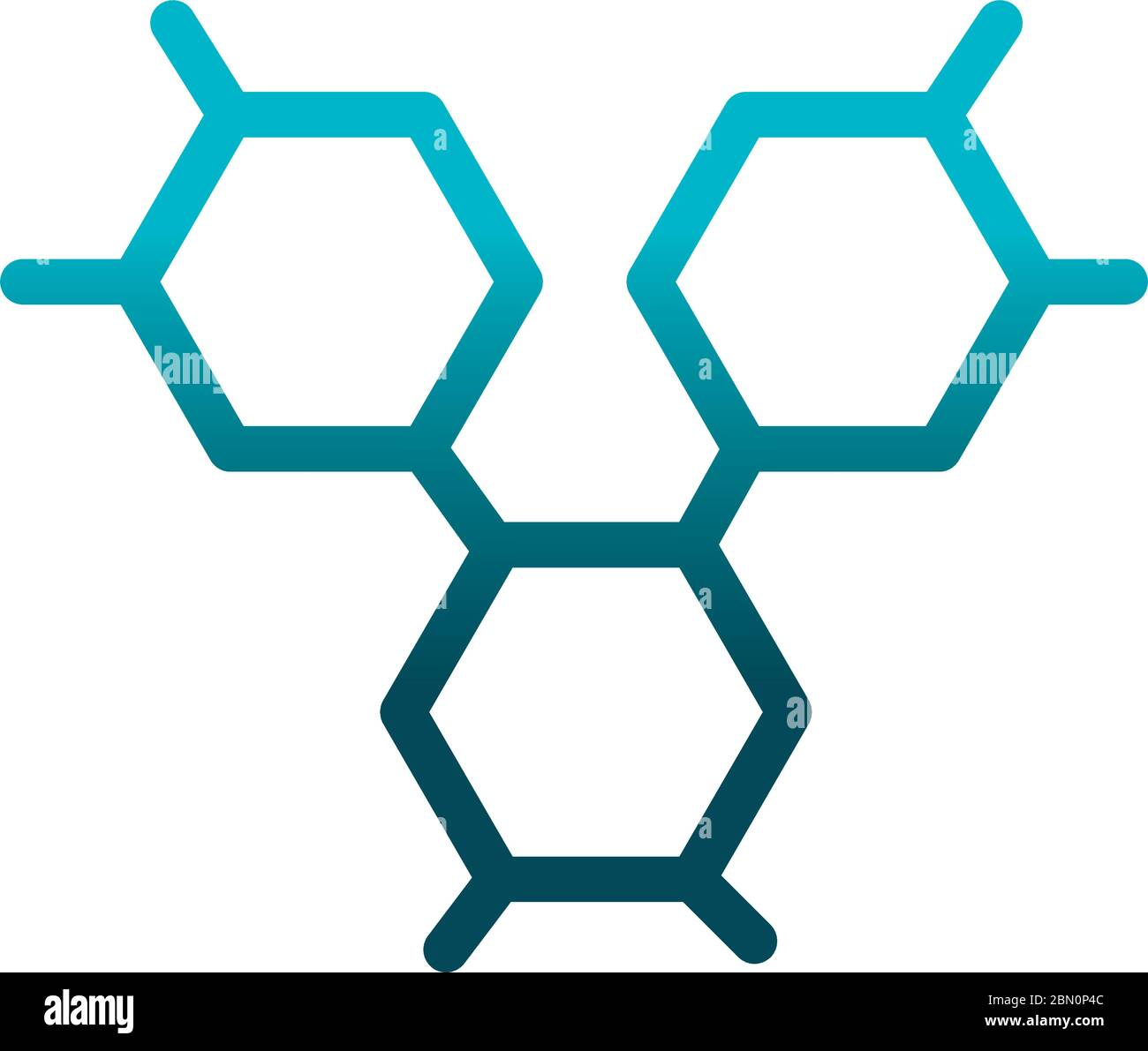 structure molecular laboratory science and research vector illustration gradient style icon Stock Vector