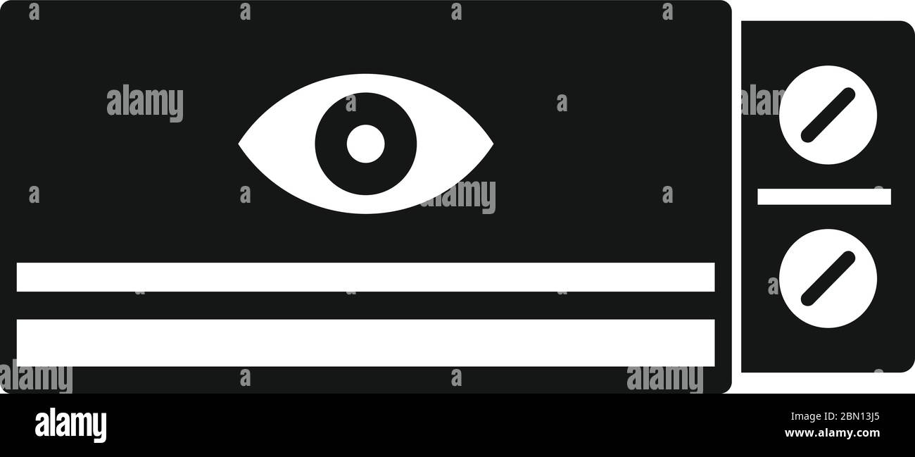 Eye care pill icon. Simple illustration of eye care pill vector icon for web design isolated on white background Stock Vector