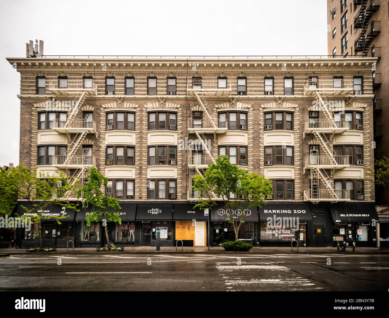 Apartment buildings in the Chelsea neighborhood of New York on Friday, May 8, 2020. New York State Gov. Andrew Cuomo has extended the state's moratorium on evictions until August. (© Richard B. Levine) Stock Photo