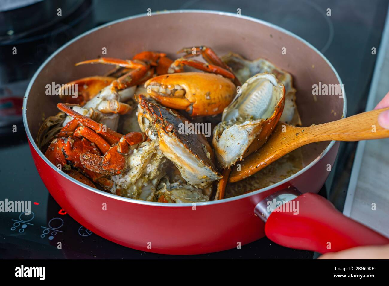 Black Pepper Crab High Resolution Stock Photography And Images Alamy