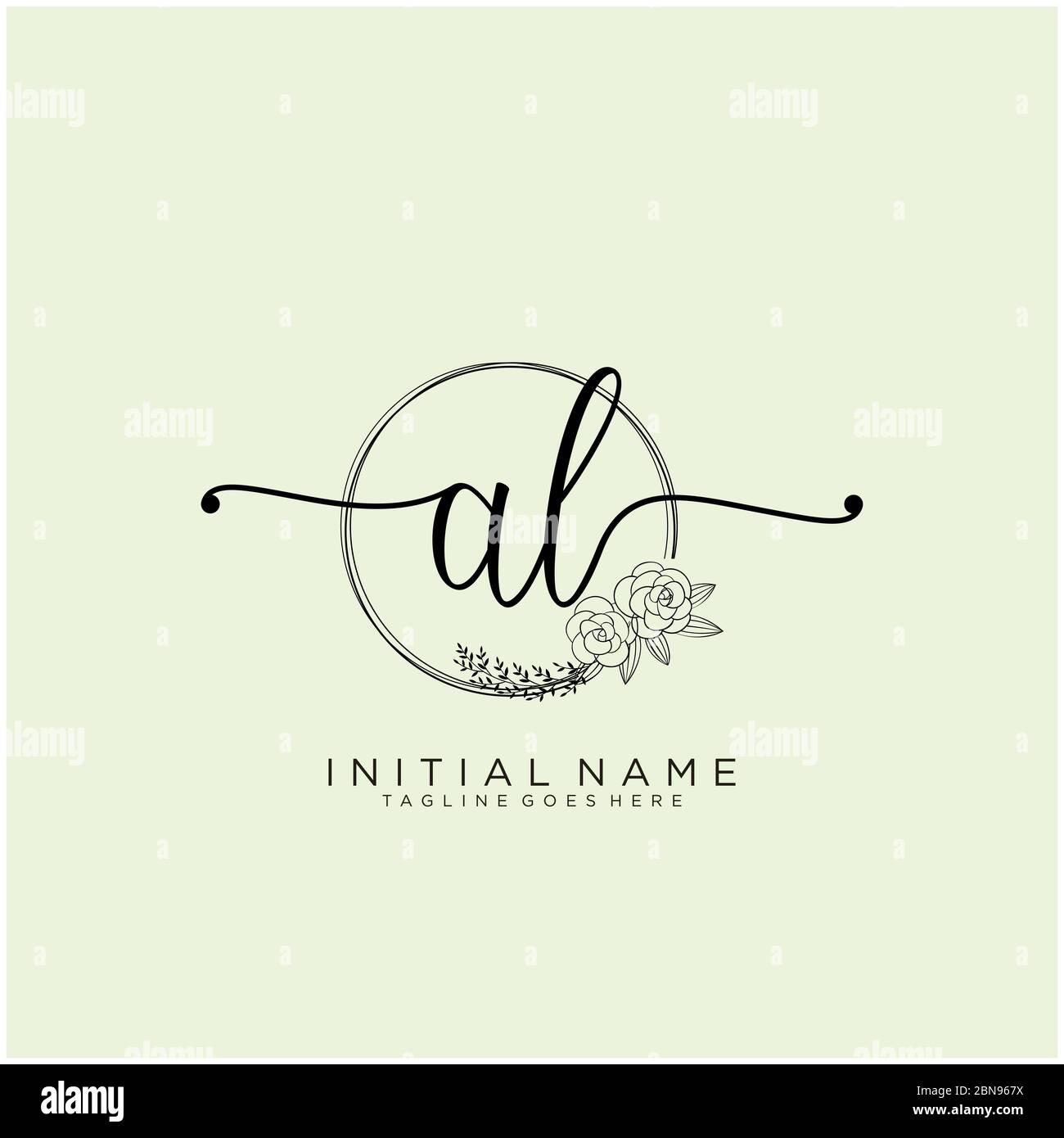 Initial Al Beauty Monogram And Elegant Logo Design Stock Vector Image Art Alamy