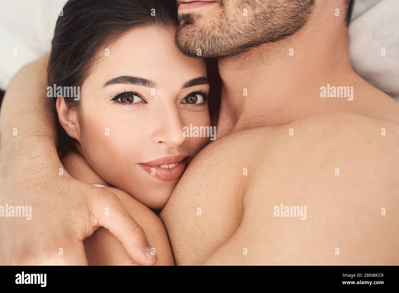 Mans woman chest kissing What Does