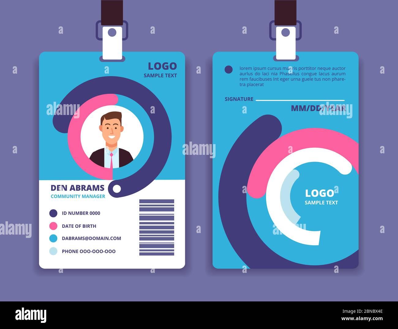 Company Id Card Template from c8.alamy.com