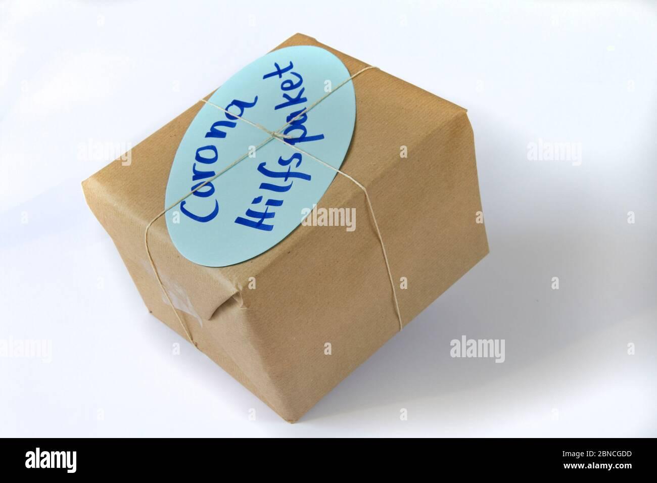 Corona Hilfspaket Stock Photo