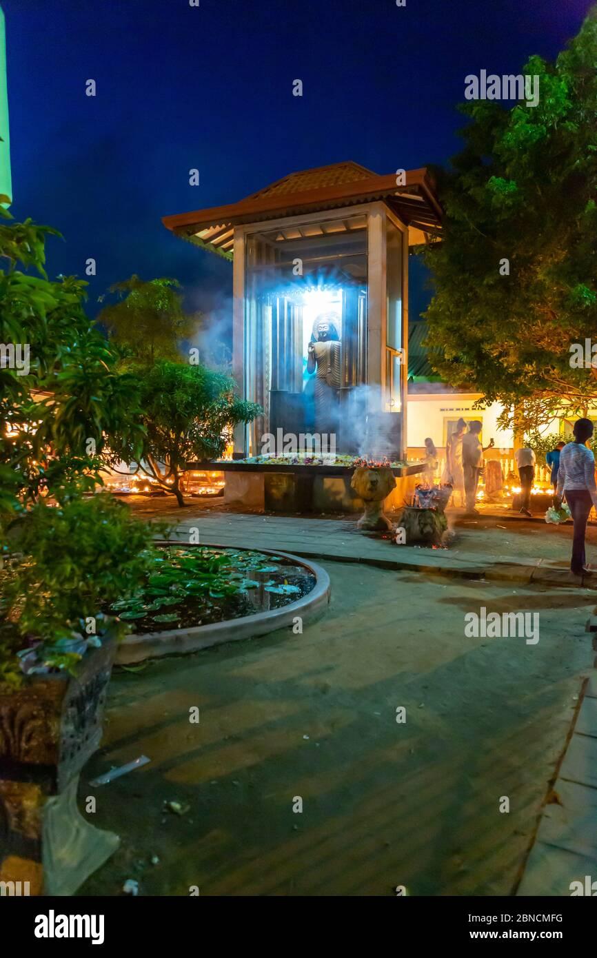Vollmondfest bei einer Reise auf Sri Lanka Stock Photo