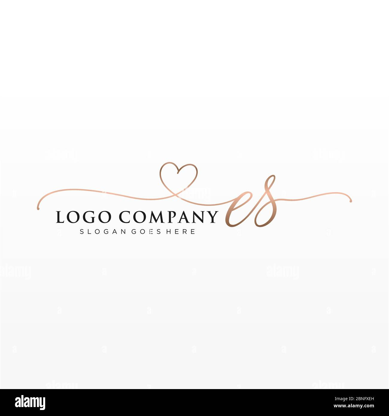 Initial Es Beauty Monogram And Elegant Logo Design Stock Vector Image Art Alamy