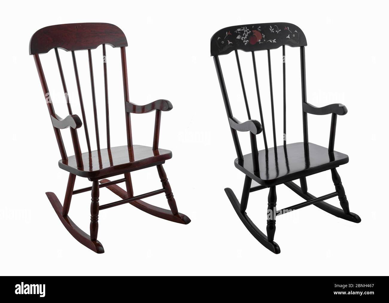 Picture of: The Wooden Rocking Chairs Isolated On The White Background Stock Photo Alamy