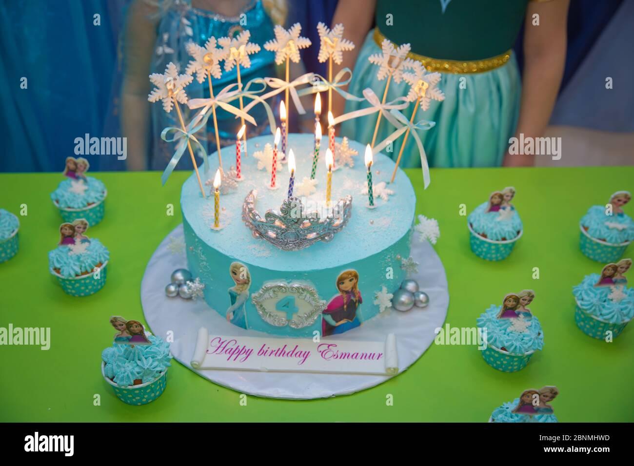 Strange Frozen Birthday Cake Disney Frozen Cake Kids Birthday Frozen Personalised Birthday Cards Rectzonderlifede
