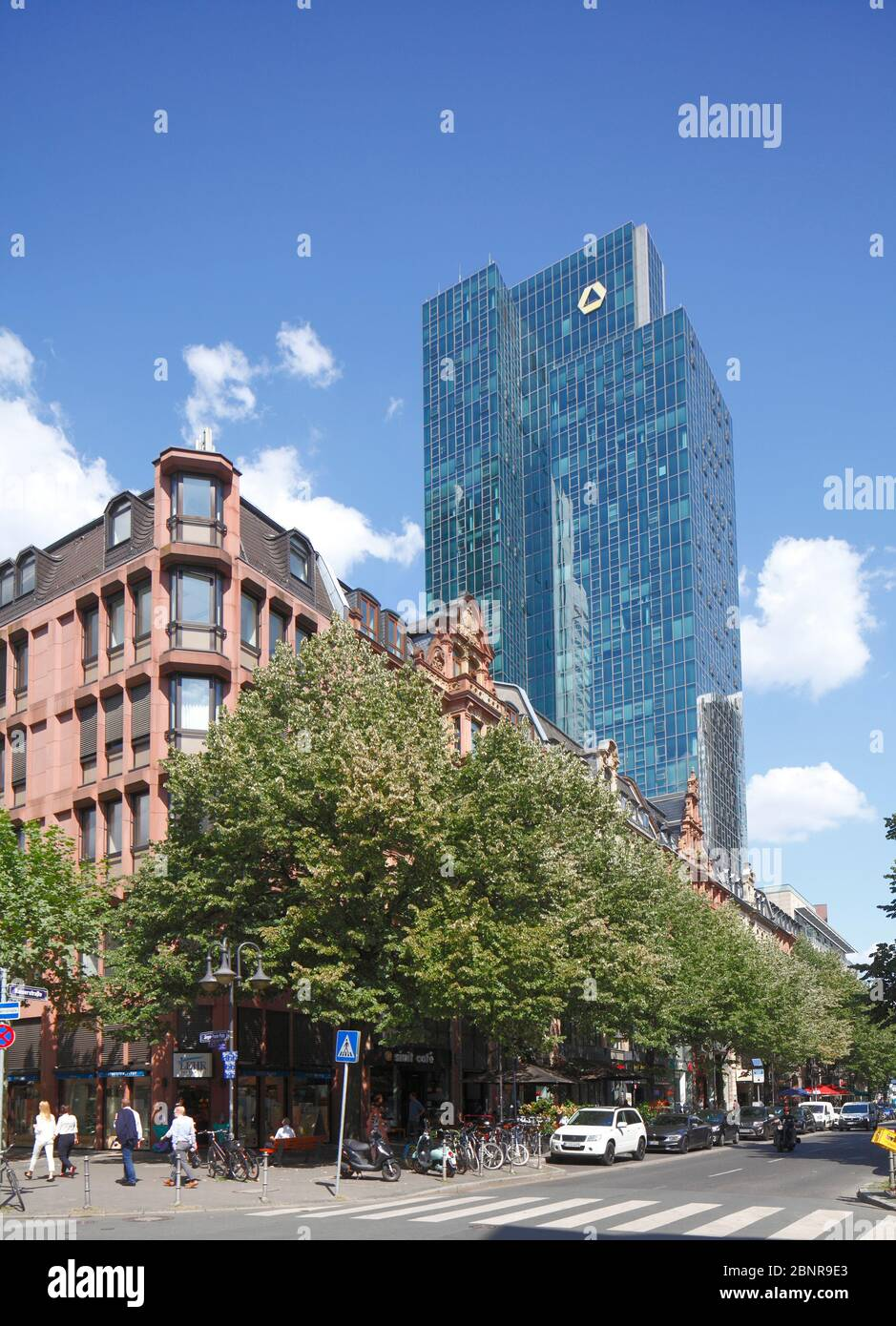 Gallileo skyscraper, Kaiserstrasse, financial district, Frankfurt am Main, Hesse, Germany, Europe Stock Photo