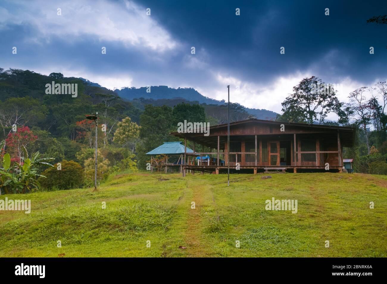 House at Cana field station, Darien national park, Darien province, Republic of Panama. Stock Photo