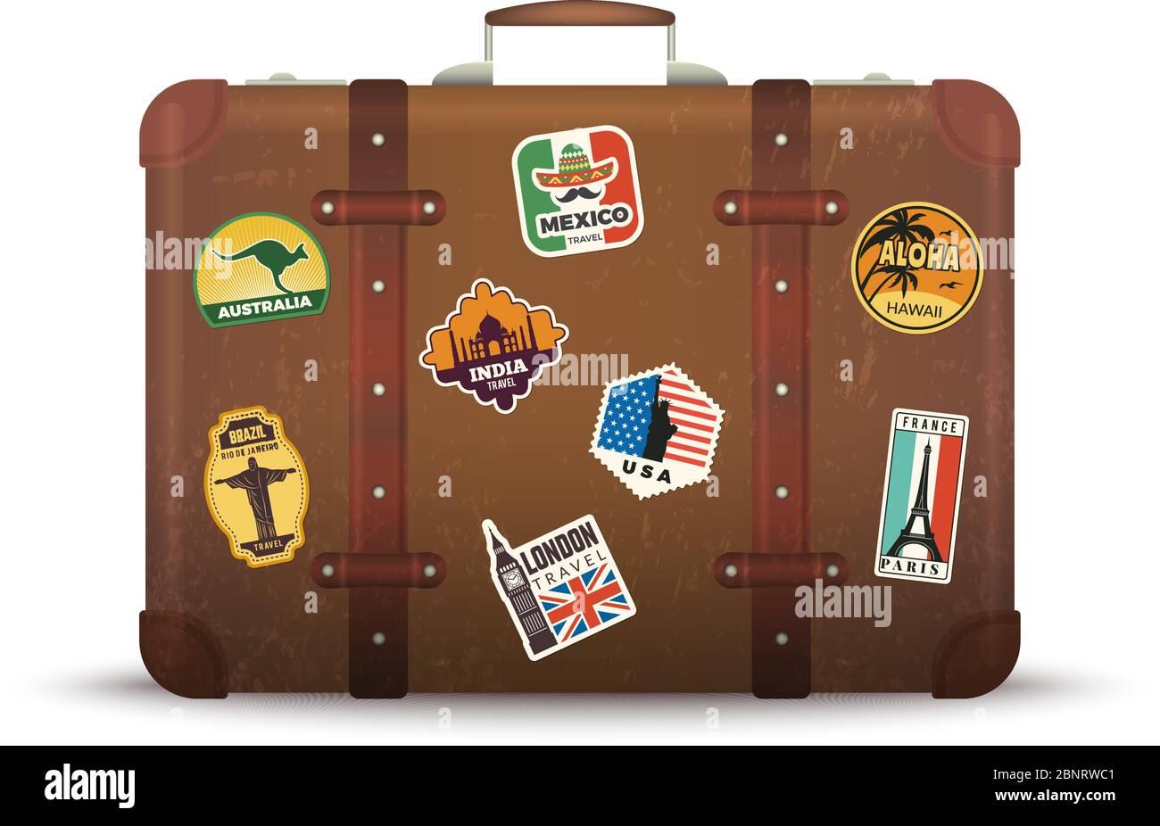 Retro Suitcase Sticker Switzerland Travel Theme Hotel Luggage Label Sticker Baggage Tag Vintage Travel Trunk Decal 59 Sticker Label